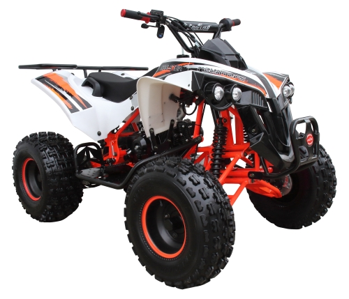 125cc coolster atv white orange