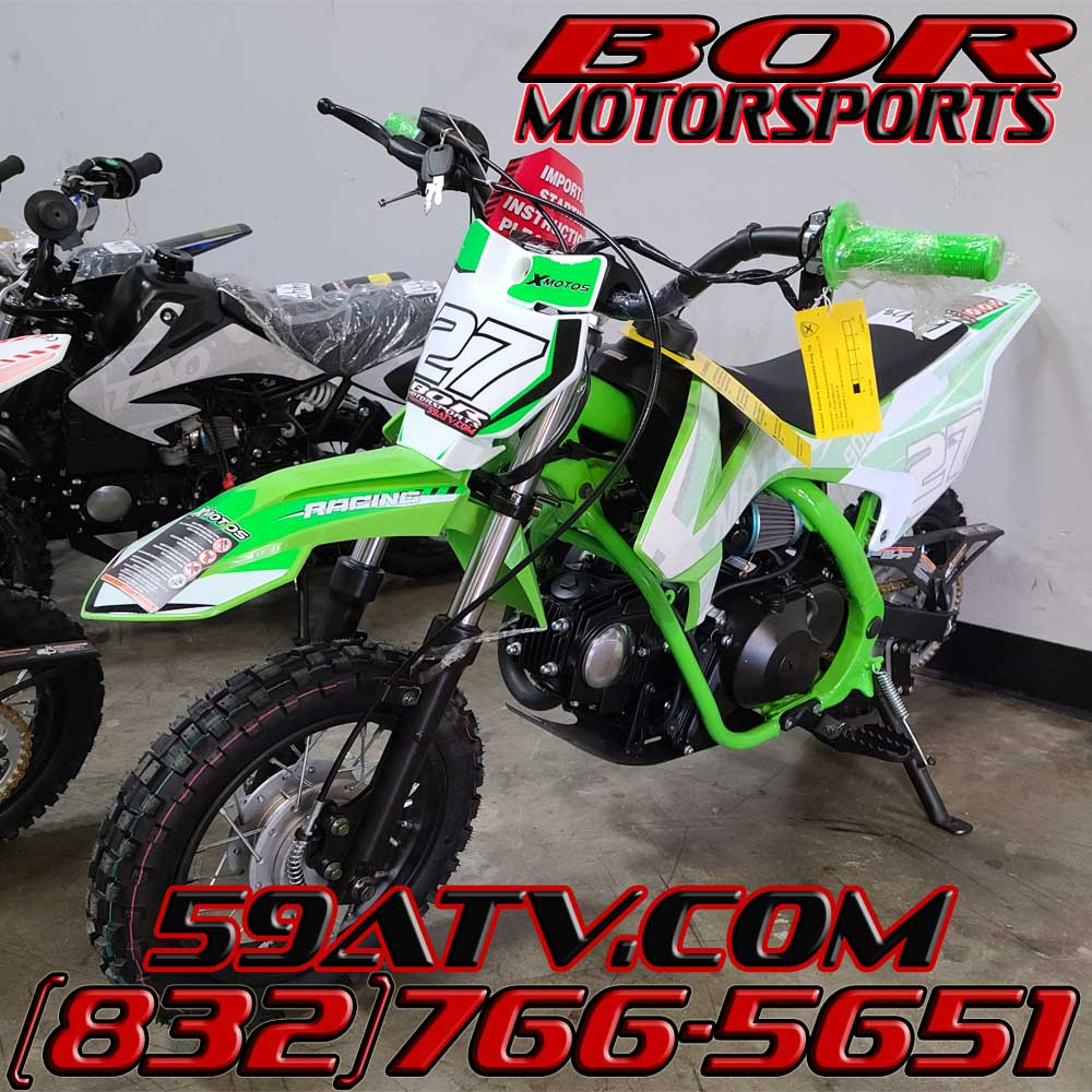90cc xmotos db27 green dirt bike